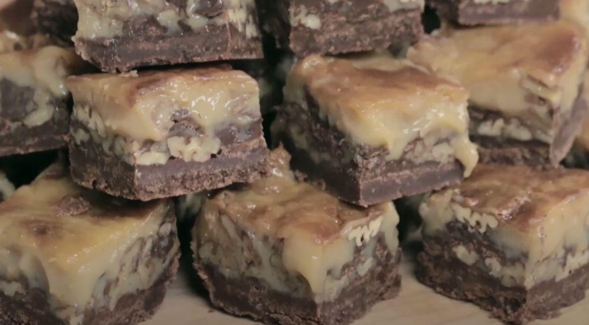 Caramel Chocolate Pecan Bars Recipe