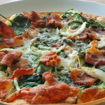caramelized onion bacon and spinach pizza recipe