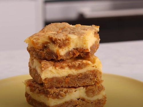 Carrot Cheesecake Bars Recipe