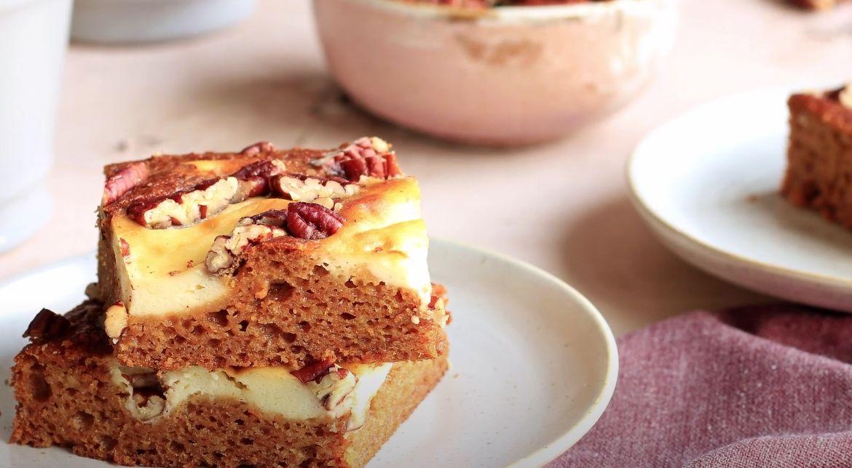 Carrot Cake Cheesecake Crumble Bars Recipe