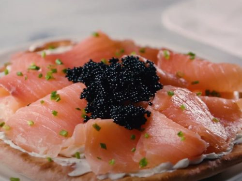 Caviar and Smoked Salmon Pizza Recipe