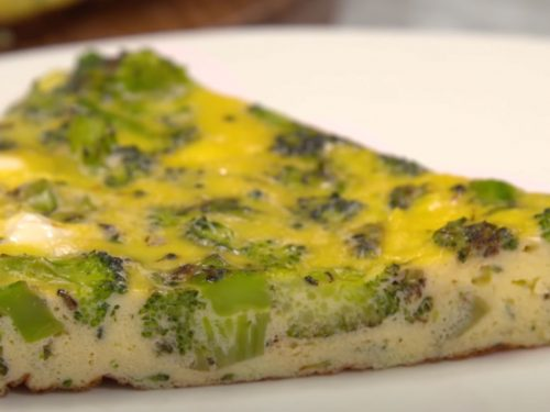 Cheddar Broccoli Frittata Recipe