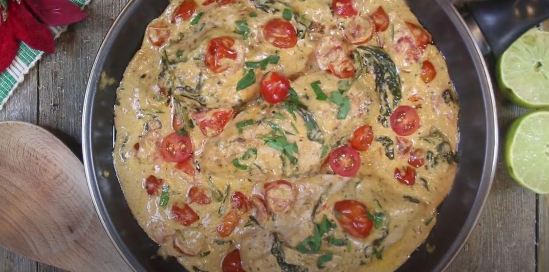 Chicken Alfredo with Plum Tomatoes Recipe