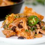 chicken enchilada cheesy rotisserie skillet recipe