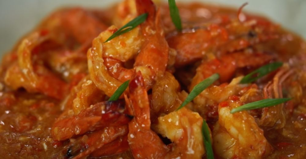 chile shrimp with tomato ketchup recipe
