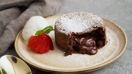 chocolate molten lava cakes recipe