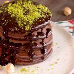 chocolate pancakes with chocolate sauce recipe