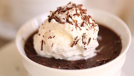 chocolate pots de creme with vanilla ice cream recipe