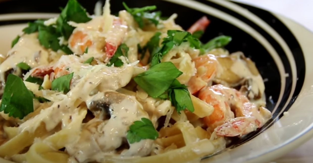 Creamy Shrimp and Mushroom Pasta Recipe