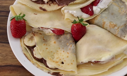 crepes a la confiture crepes with jam recipe