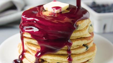 easy blueberry blender pancake recipe