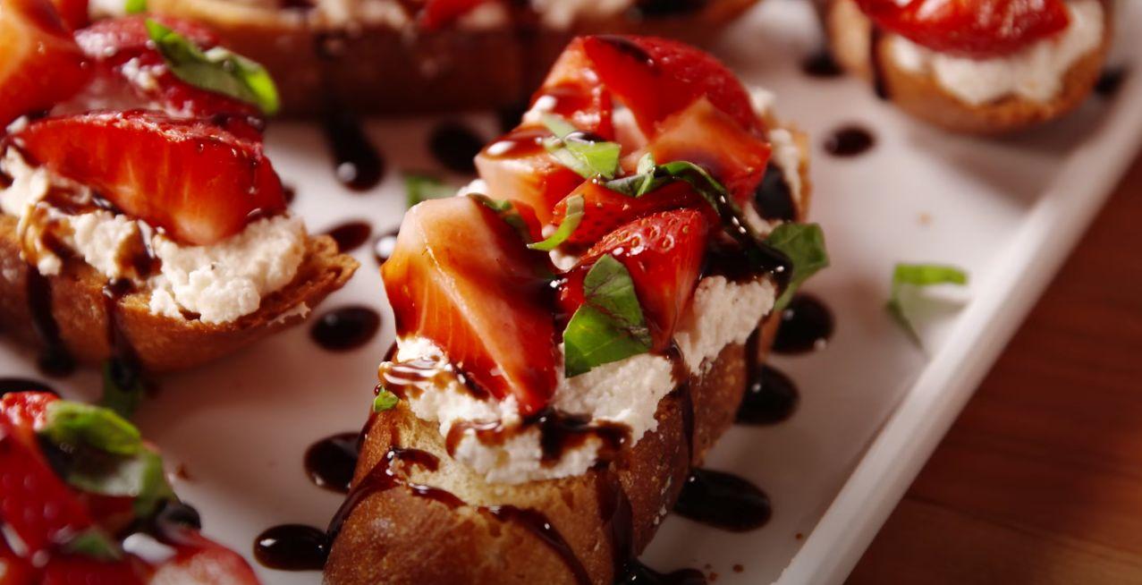 Easy Strawberry Bruschetta Recipe