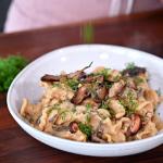egg noodles with mushroom recipe