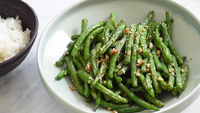 Foil-Pouch Grilled Green Beans Recipe