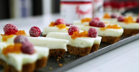 goat cheese cheesecake with honeyed cranberries recipe