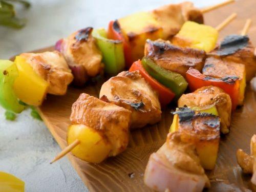 Hawaiian Teriyaki Chicken Skewers Recipe