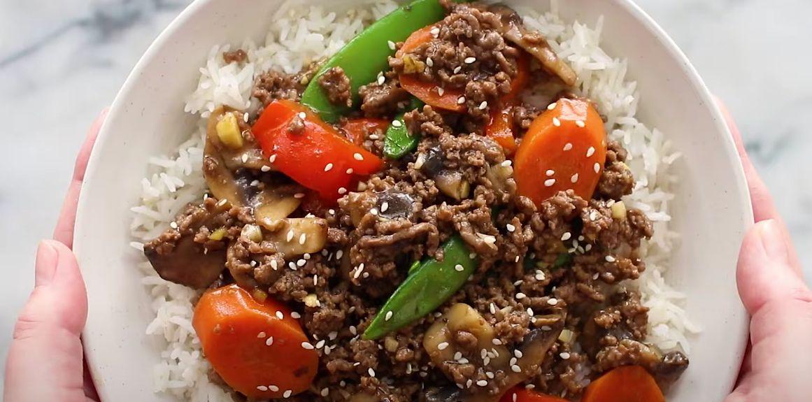 Korean Ground Beef Stir Fry Recipe