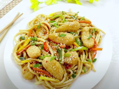 Mongolian Chicken Noodles Recipe