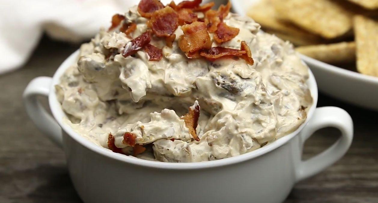 Mushroom-and-Bacon Dip Recipe
