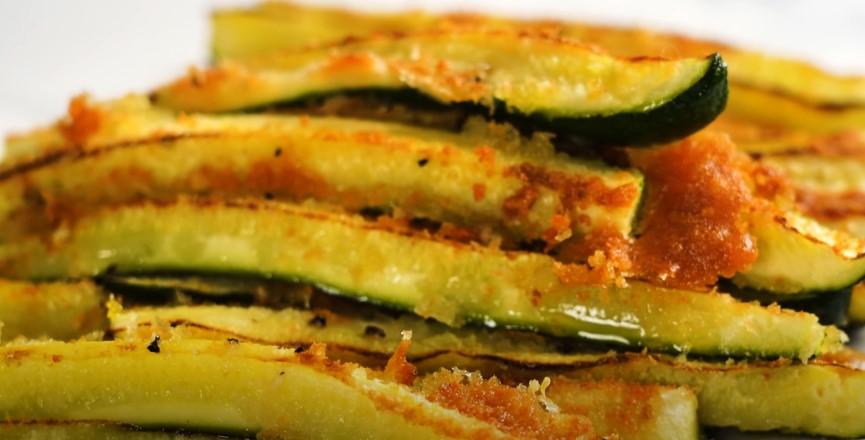 Parmesan Crusted Zucchini Recipe