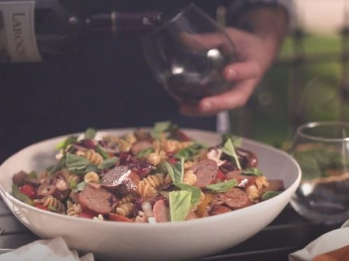 Pasta Salad with Links Recipe