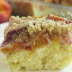 peach cake with pecan streusel recipe