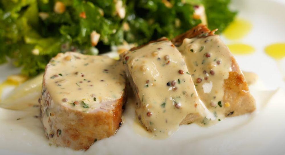 Pork Tenderloin with Mustard Sauce Recipe