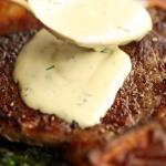 rib eye steak with blue cheese recipe