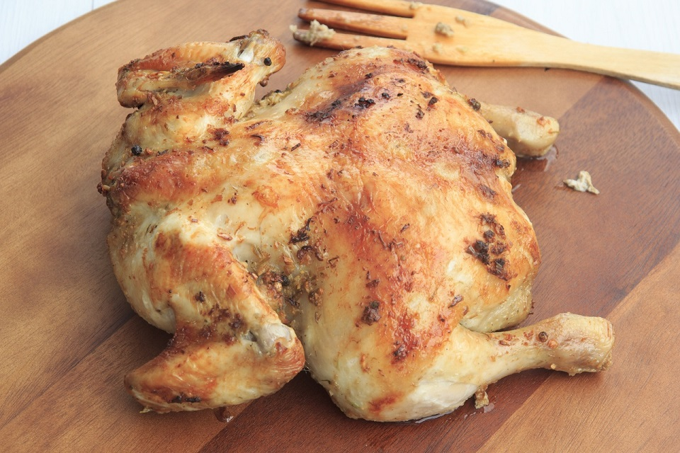 roasted capon chicken recipe