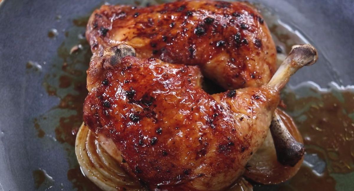 Roasted Chicken with Lemon Sauce Recipe