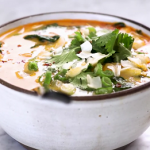 roasted kuri coconut curry soup recipe
