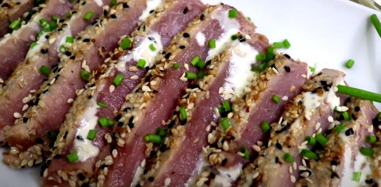 Sesame-Crusted Tuna with Ginger Cream Recipe