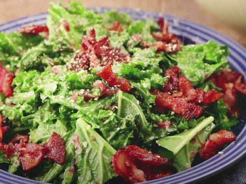 Shredded Kale with Pecorino and Pancetta Recipe