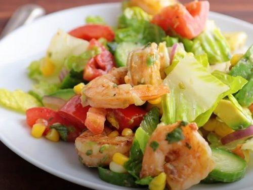 Shrimp Avocado Taco Salad Recipe