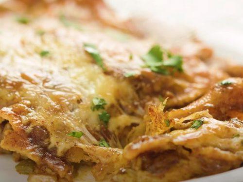 Stacked Beef Enchiladas (Mexican Lasagna) Recipe
