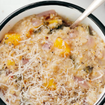 steel cut oat risotto with butternut squash and kale recipe