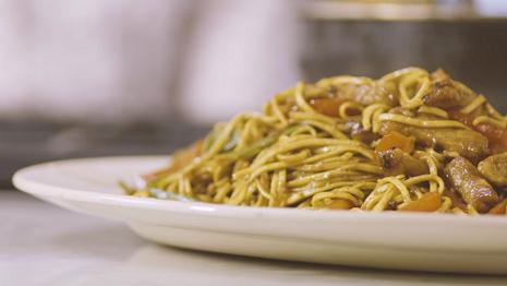 stir fried noodles and pork recipe