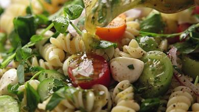summer baby greens pasta salad recipe