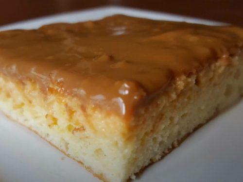 Tres Leches Cake with Dulce de Leche Glaze Recipe