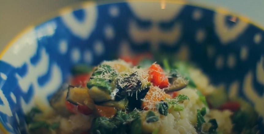 Tri-Color Vegetable Risotto Recipe