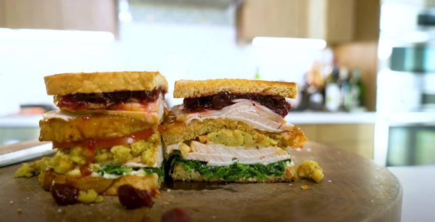 Turkey Cranberry and Stuffing Sandwich Recipe