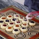 white chocolate orange pistachio thumbprint cookies recipe