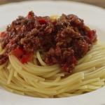 whole wheat spaghetti with lamb tomato and cumin sauce recipe