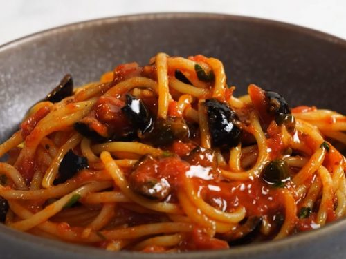 olive and tomato pasta recipe