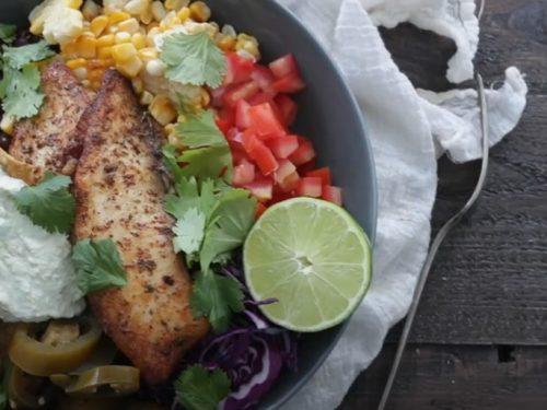 fish taco salad bowl recipe
