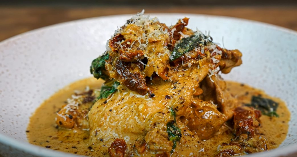 mozzarella chicken pasta with sun dried tomatoes recipe