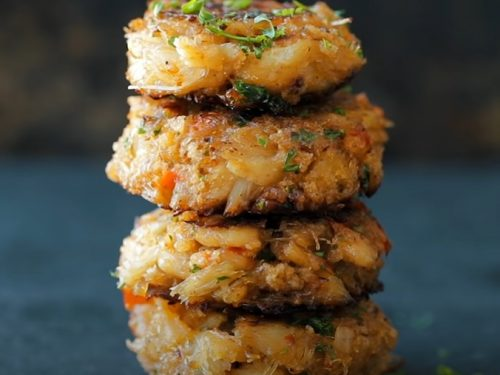 baked corn and crab cakes recipe