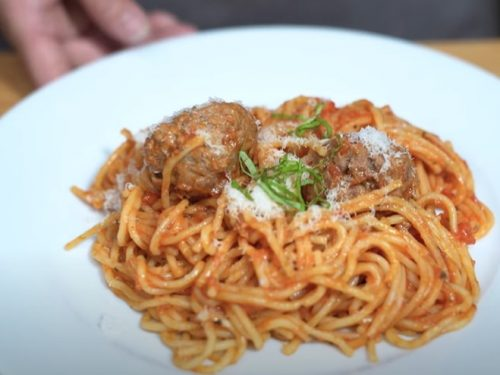 spaghetti and meatballs in the instant pot® recipe