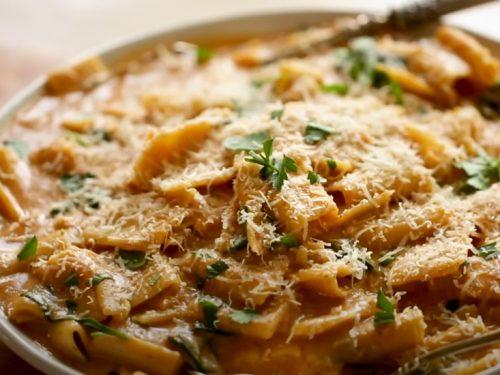 bow tie pasta with sun-dried tomato and scallion cream recipe