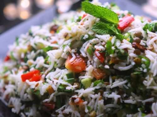 lentil rice salad recipe